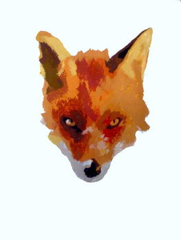Fox face, 2013 Kunstdruck