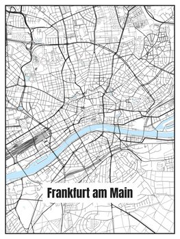 Mapa Frankfurt am Main