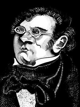 Franz Schubert by Neale Osborne Kunstdruk