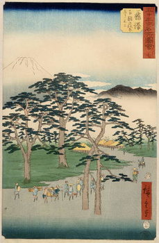 Fujisawa from the series 53 stations of the Tokaido, 1855 Reproduction de Tableau