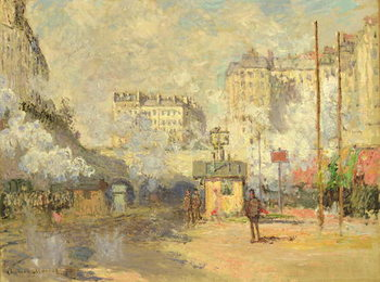 Gare Saint Lazare, 1877 Kunstdruk