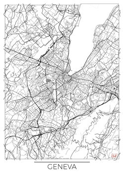 Stadtkarte von Geneva
