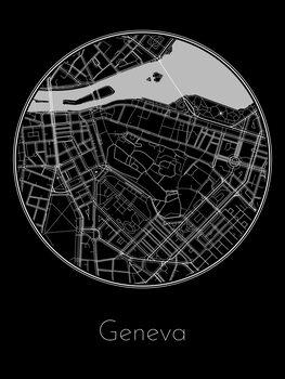 Mapa de Geneva