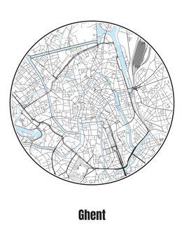 Mapa de Ghent