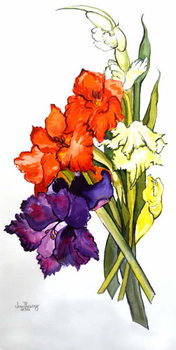 Gladioli, 2011 Reproduction de Tableau