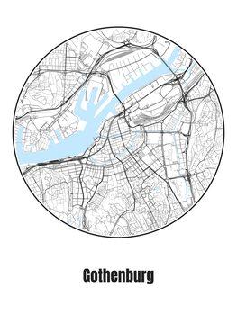 Stadtkarte von Gothenburg