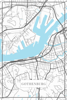 Mapa de Gothenburg white