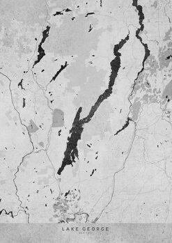 Stadtkarte Gray vintage map of Lake George