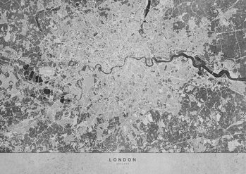 Kaart Gray vintage map of London
