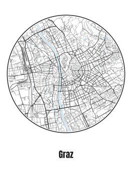 Kaart van Graz