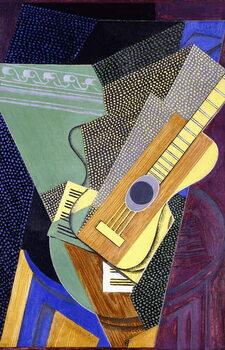 Guitar on a Table; Guitare sur une Table, 1916 Reproduction de Tableau