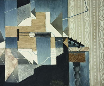 Reproducción de arte Guitar on Table; La Guitare sur la Table, 1913