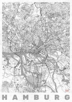 Mapa de Hamburg
