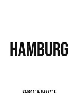 Ilustrácia Hamburg simple coordinates