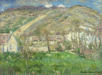 Hamlet in the Cliffs near Giverny; Hameau de Falaises pres Giverny, 1885 Reproduction de Tableau