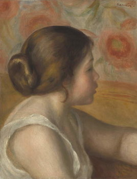 Head of a Young Girl, c.1890 Kunstdruk