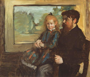 Henri Rouart and his Daughter Helene, 1871-72 Kunstdruk