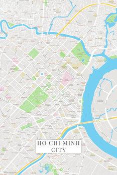 Mapa de Ho Chi Minh City color