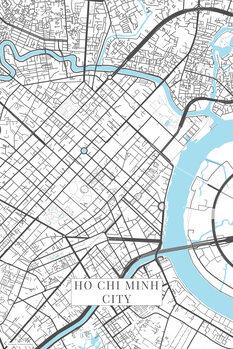 Mapa de Ho Chi Minh City white