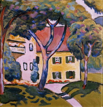 House in a Landscape Kunstdruck