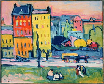 Houses in Munich, 1908 Kunsttryk
