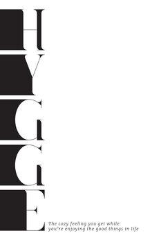 Ilustración Hygge definition typography art