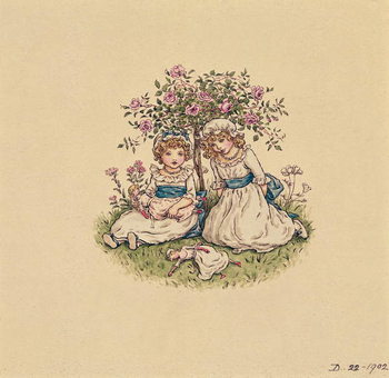 Illustration for 'St. Valentines Day' 1902 Reproduction de Tableau