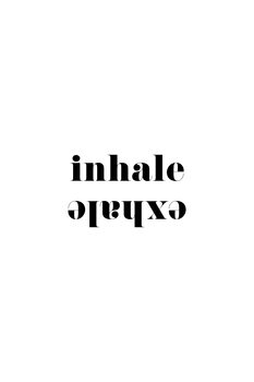 Illustration Inhale exhale scandinavian typography art