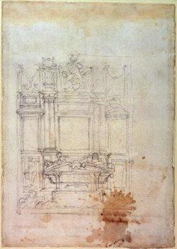 Inv. L859 6-25-823. R. (W.27) Design for a tomb Reproduction de Tableau