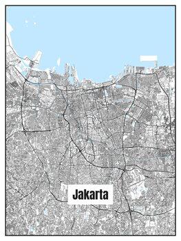 Stadtkarte von Jakarta