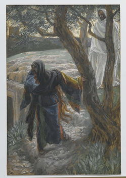 Jesus Appears to Mary Magdalene, illustration from 'The Life of Our Lord Jesus Christ', 1886-94 Kunsttryk