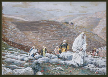 Jesus Goes Up into Jerusalem, illustration for 'The Life of Christ', c.1886-94 Kunstdruk
