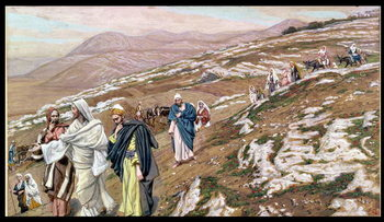Jesus on his way to Galilee, illustration for 'The Life of Christ', c.1886-96 Kunsttryk