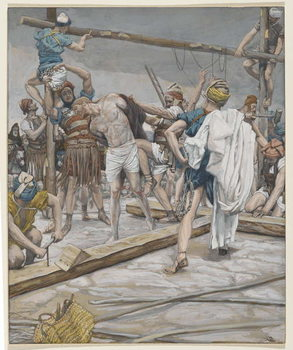 Jesus Stripped of His Clothing, illustration from 'The Life of Our Lord Jesus Christ', 1886-94 Reproduction de Tableau