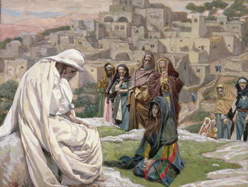 Jesus Wept, illustration for 'The Life of Christ', c.1886-96 Kunstdruk