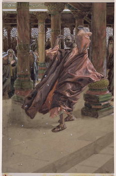 Judas Repents and Returns the Money, illustration for 'The Life of Christ', c.1886-94 Kunstdruk