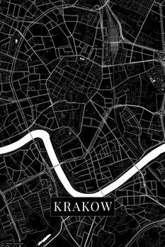 Mapa de Krakow black