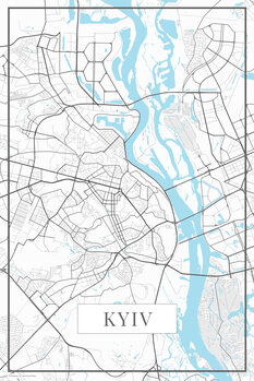Mapa de Kyiv white