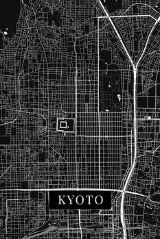 Mapa de Kyoto black