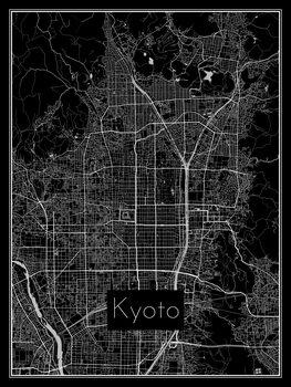 Stadtkarte von Kyoto