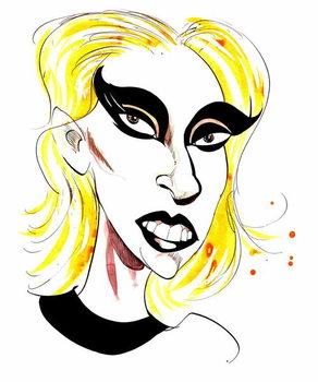 Lady Gaga  - carciature Kunstdruck