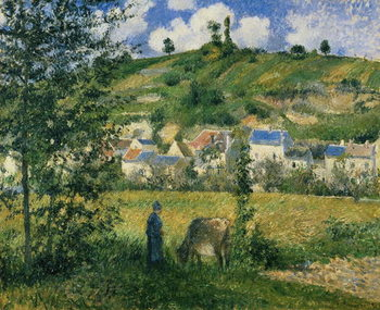 Landscape at Chaponval, 1880 Reproduction de Tableau