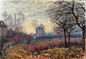 Landscape near Louveciennes, 1873 Reproduction de Tableau