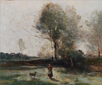 Landscape or, Morning in the Field Reproduction de Tableau