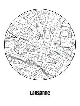 Mapa de Lausanne