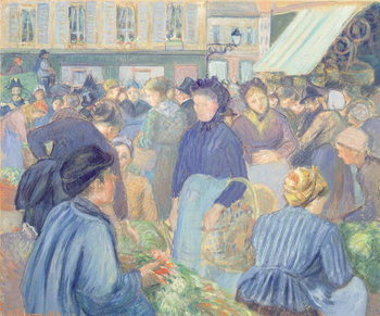 Le Marche de Gisors, 1889 Reproduction de Tableau