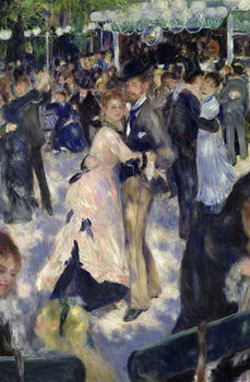 Le Moulin de la Galette, detail of the dancers, 1876 Kunsttryk