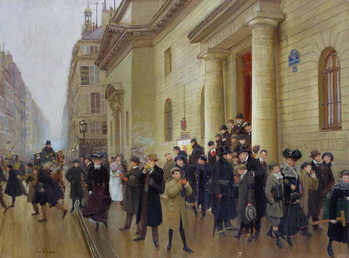 Leaving the Lycee Condorcet, 1903 Kunsttryk