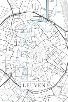 Kaart Leuven white