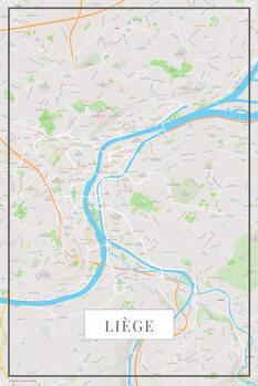 Mapa de Liege color